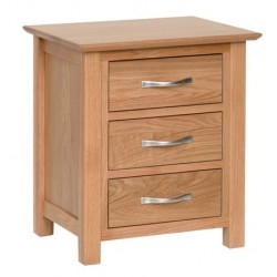 Devonshire Pine and Oak Ready assembled New Oak 3 DRAWER BEDSIDE NB30