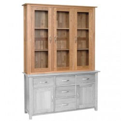 Devonshire Pine and Oak Ready assembled New Oak 4 foot 6 inches GLASS TOP ND40
