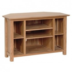 Devonshire Pine and Oak Ready assembled New Oak CORNER TV CABINET NE10