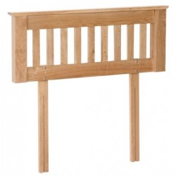 Devonshire Pine and Oak Ready assembled New Oak 5 foot HEADBOARD NH60