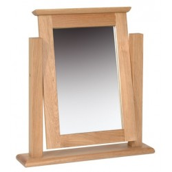 Devonshire Pine and Oak Ready assembled New Oak SINGLE DRESSING TABLE MIRROR NM05