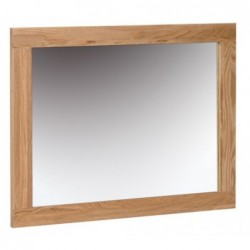 Devonshire Pine and Oak Ready assembled New Oak WALL MIRROR 750 x 600 NM20