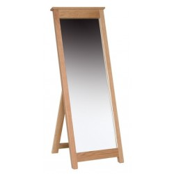 Devonshire Pine and Oak Ready assembled New Oak CHEVAL MIRROR NM40