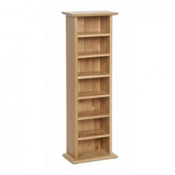 Devonshire Pine and Oak Ready assembled New Oak CD DVD RACK NR20