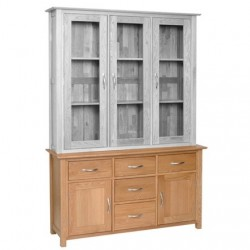 Devonshire Pine and Oak Ready assembled New Oak 4 foot 6 inches DRESSER BASE NS40