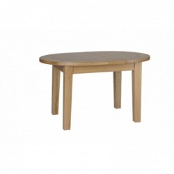 Devonshire Pine and Oak Ready assembled New Oak SMALL D END EXTENDING TABLE 1315mm NT01
