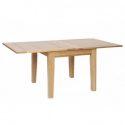 Devonshire Pine and Oak Ready assembled New Oak 3 foot X 3 foot FLIP TOP EXTENDABLE TABLE NT05