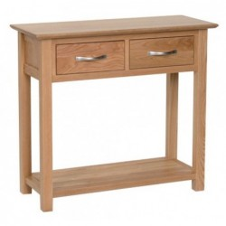 Devonshire Pine and Oak Ready assembled New Oak 2 DRAWER CONSOLE TABLE NT20