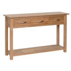 Devonshire Pine and Oak Ready assembled New Oak 3 DRAWER CONSOLE TABLE NT25