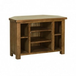 Devonshire Pine and Oak Ready assembled Rustic Oak CORNER TV CABINET RE10