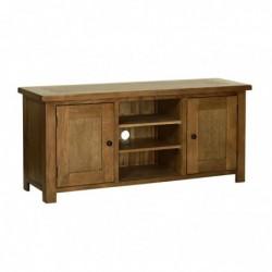 Devonshire Pine and Oak Ready assembled Rustic Oak LARGE TV CABINET RE35