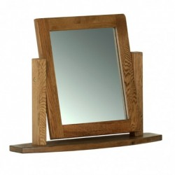 Devonshire Pine and Oak Ready assembled Rustic Oak SINGLE DRESSING TABLE MIRROR RM05