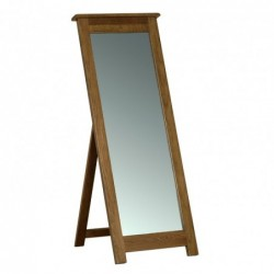 Devonshire Pine and Oak Ready assembled Rustic Oak CHEVAL MIRROR RM40