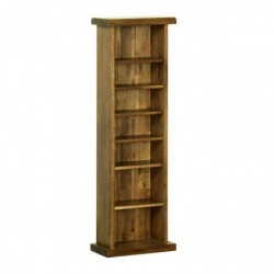Devonshire Pine and Oak Ready assembled Rustic Oak CD DVD RACK RR20