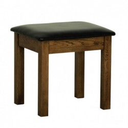Devonshire Pine and Oak Ready assembled Rustic Oak DRESSING TABLE STOOL RS10