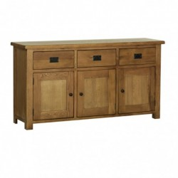 Devonshire Pine and Oak Ready assembled Rustic Oak LARGE SIDEBOARD RS45