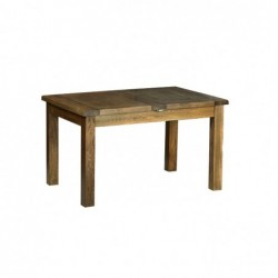 Devonshire Pine and Oak Ready assembled Rustic Oak 4 foot 4 inches EXTENDABLE TABLE (2 LEAF) RT07