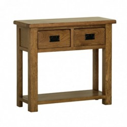 Devonshire Pine and Oak Ready assembled Rustic Oak 2 DRAWER CONSOLE TABLE RT20