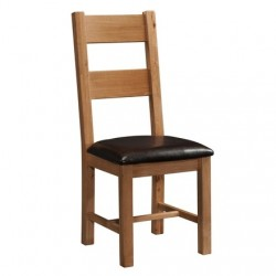 Devonshire Pine and Oak Ready assembled Rustic Oak LADDER BACK CHAIR RUS098