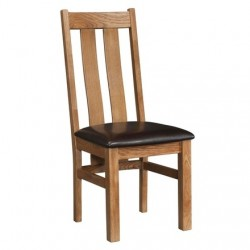 Devonshire Pine and Oak Ready assembled Rustic Oak ARIZONA CHAIR RUS100