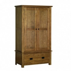 Devonshire Pine and Oak Ready assembled Rustic Oak GENTS 1 DRAWER WARDROBE RW30