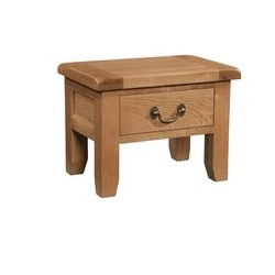 Devonshire Pine and Oak Ready assembled Somerser Oak  SIDE TABLE WITH DRAWER SOM006