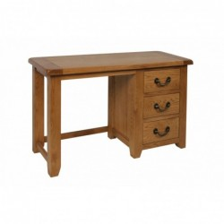 Devonshire Pine and Oak Ready assembled Somerset Oak  SINGLE PEDESTAL DRESSING TABLE SOM022