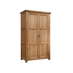 Devonshire Pine and Oak Ready assembled Somerset Oak  DOUBLE WARDROBE SOM031