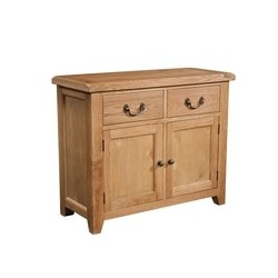 Devonshire Pine and Oak Ready assembled Somerset Oak 2 DOOR 2 DRAWER SIDEBOARD SOM051