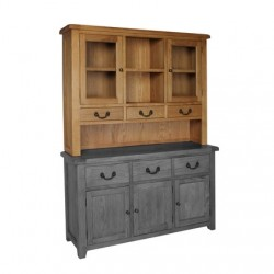 Devonshire Pine and Oak Ready assembled Somerset Oak DRESSER TOP SOM055