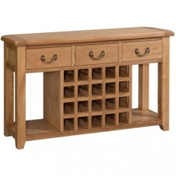 SOMERSET OAK OPEN SIDEBOARD SOM056
