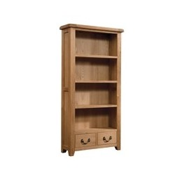 Devonshire Pine and Oak Ready assembled Somerset Oak BOOKCASE 900 X 1800 SOM062