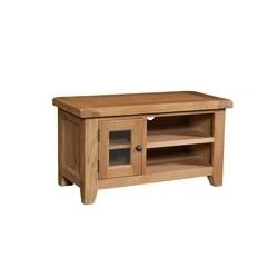 Devonshire Pine and Oak Ready assembled Somerset Oak SMALL TV UNIT SOM071