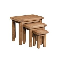 Devonshire Pine and Oak Ready assembled Somerset Oak NEST OF TABLES SOM076