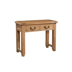 Devonshire Pine and Oak Ready assembled Somerset Oak 2 DRAWER CONSOLE TABLE SOM078