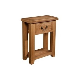 Devonshire Pine and Oak Ready assembled Somerset Oak 1 DRAWER CONSOLE TABLE SOM079