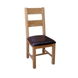 Devonshire Pine and Oak Ready assembled Somerset Oak  LADDER BACK CHAIR SOM098