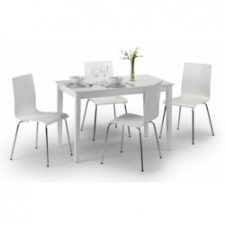 Taku White Lacquered Table (114cm x 65cm)Taku White Lacquered Table (114cm x 65cm)