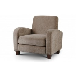 JULIAN BOWEN VIVO CHAIR IN MINK CHENILLE FABRIC