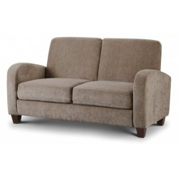 JULIAN BOWEN VIVO 2 SEATER IN MINK CHENILLE FABRIC