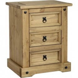 seconique Corona 3 drawer bedside