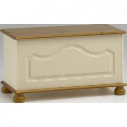 RICHMOND CREAM AND PINE OTTOMAN