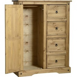 seconique Corona 1 Door 4 Drawer Low Wardrobe stockist