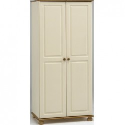 RICHMOND CREAM AND PINE 2 DOOR WARDROBE