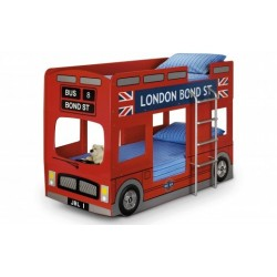 London Bus Bunk Bed - Red Lacquered Finish 90cm