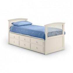 Hornblower Bed - Stone White Finish 90cm