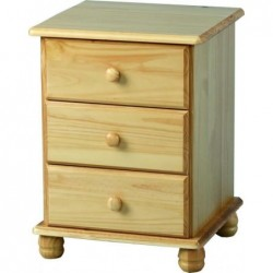 Sol 3 Drawer Bedside Chest Seconique flat packed furniture