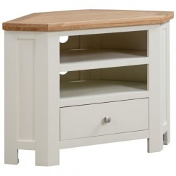 Devon painted corner TV unit