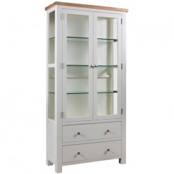 Devon painted glass display unit