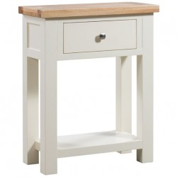 Devon painted one drawer console table